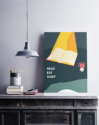Read, eat sleep