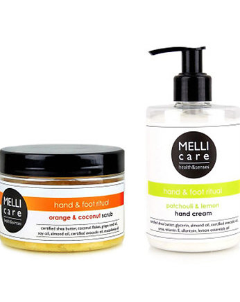 MELLI care, Scrub 330g + foot cream 300ml