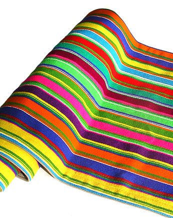 na ludowo, multi STRIPE wool tablecloth (2) (handmade)