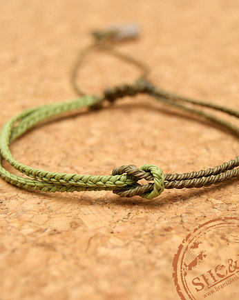 Knot- military green/pistachio