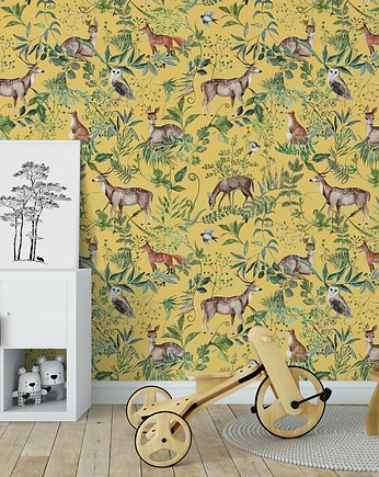 retro, Tapeta Wonder Forest  Yellow