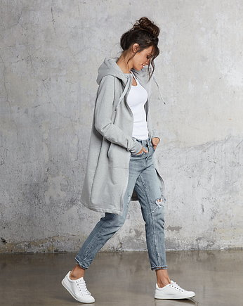 Flawless, GREY COTTON coat