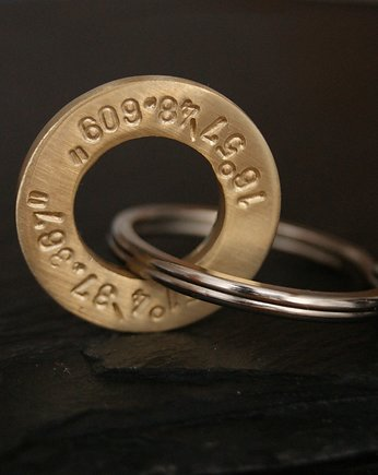 Circle brass - keychain,