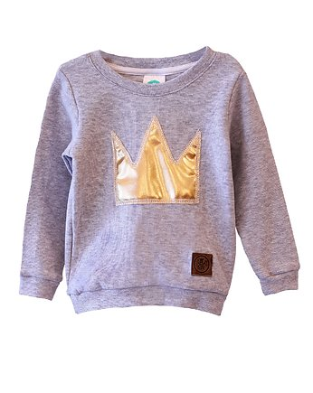 Little Gold King, Bluza GOLD CROWN grey