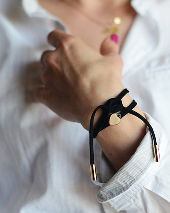barboleta, mini black/gold heart love