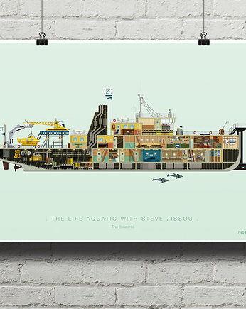 minimalmill, Life Aquatic - The Belafonte - plakat