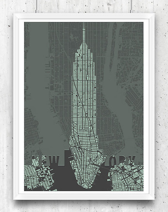 New York, Nowy Jork - Empire State Building - plakat