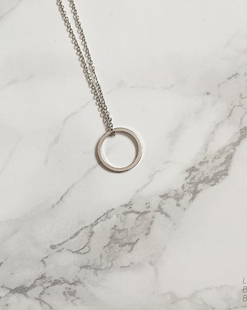 Rhodium Plated Flat Karma Necklace