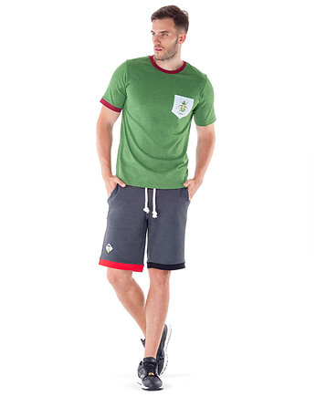 Zieleń, Carabus Pocket T-shirt (Green Melange)