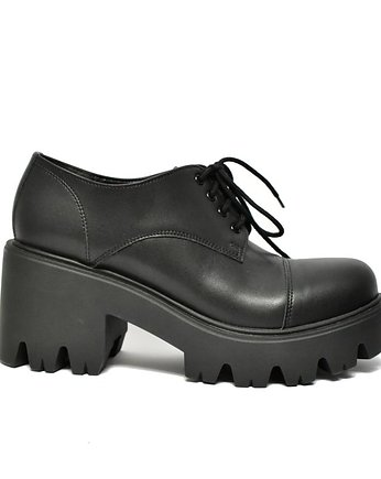 black, ALTERCORE botki na platformie Mila Vegan Black