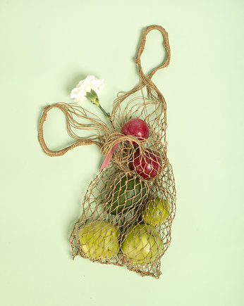 PROUDLY DESIGNED, NET BAG - Naturalna
