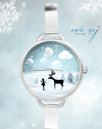 12 %  OFF Star Girl Snow Renifer-zegarek + ball