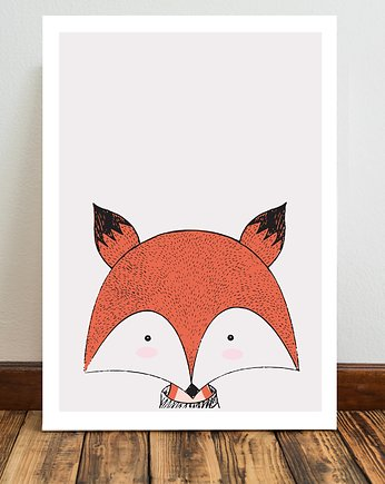 Miss Rabbit Mr Fox, Lis plakat  50x70 cm / A3 / A4