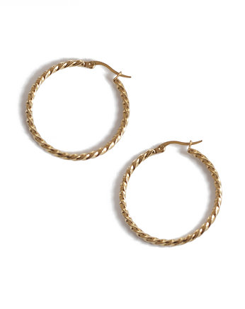 KOPI, vintage circles  earrings / gold