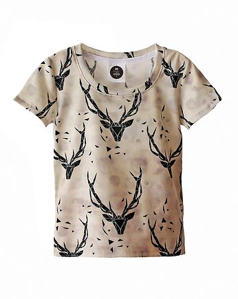 t-shirt deer grey