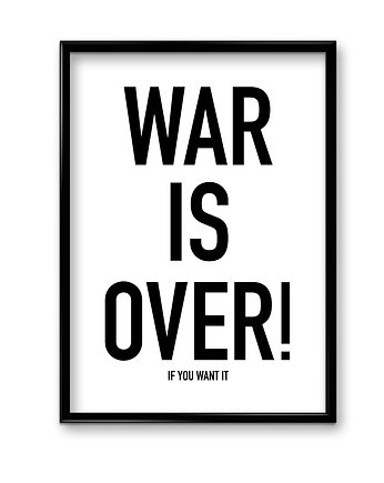 War is over - plakat