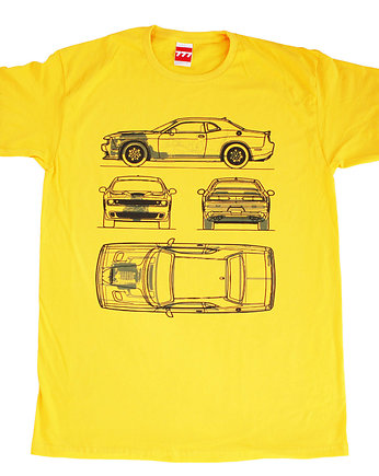 koszulka DODGE CHALLENGER NEW YELLOW tshirt