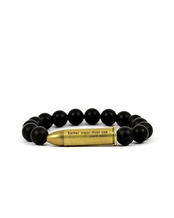Better Wear Than Use- Onyx Mat Bracelet
