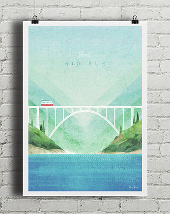 travel, Big Sur - vintage plakat