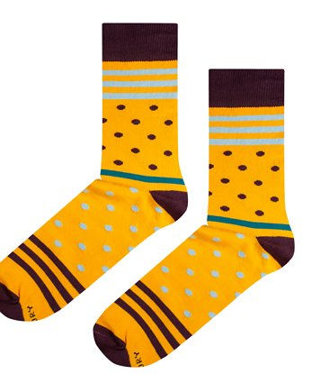 Dla domatora, Skarpetki Yellow Stripes N Dots
