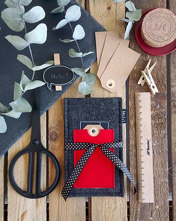 Etui Gray&Red #3