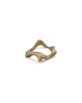 WAVES thick / brass RING, ONA