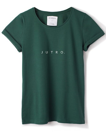 T-shirt zielony JUTRO.