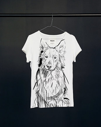 White Shepherd t-shirt woman