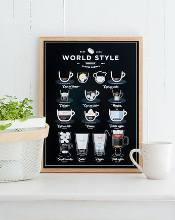 na parapetówkę, World Style Coffee plakat