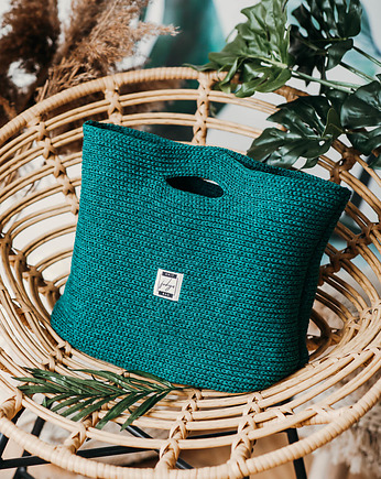 Knit Bag Green F1049