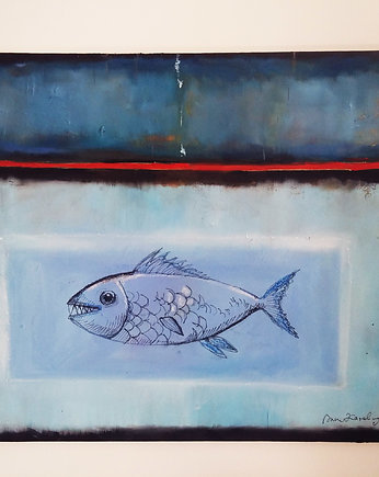 "obraz olejny ""fish abstract"""