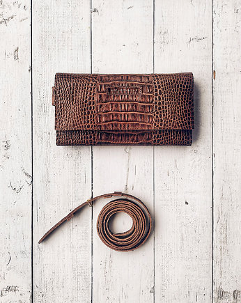 Strap Wallet Brown Croco