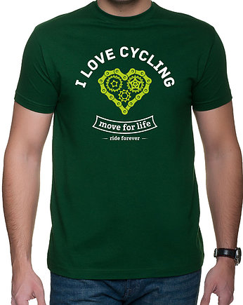 Koszulka T-SHIRT.  I love cycling