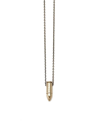 pocisk, Eyes On Target - mini bullet necklace (brass 2)