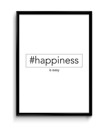 Bury Lis, #happiness - plakat