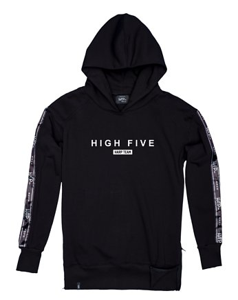 Harp Team, Bluza Damska Hoodie Ex Ove High Five Black