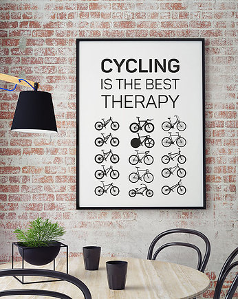 hasło, plakat. Cycling is the best