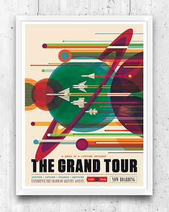 ilustracja, The Grand Tour - vintage plakat