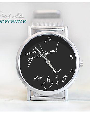 Biżuteria, - 12 % Happy Watch - Nie Ogarniam (black)