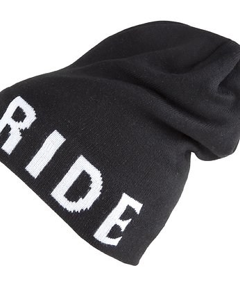 Czapka Zimowa  Born To Ride jacquard komin Black