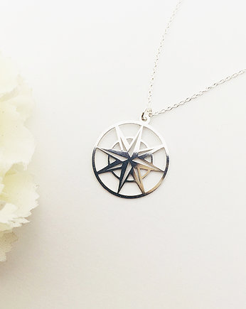 Naszyjnik kompass, compass necklace, gold compass