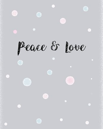 My Prints, PLAKAT PEACE & LOVE A3