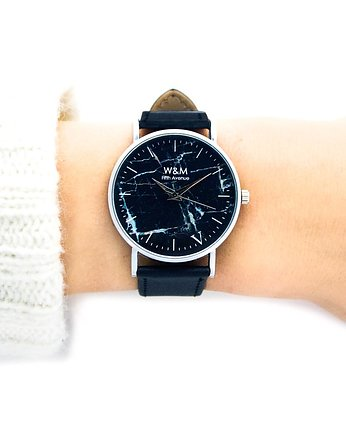 zegarki - unisex, Zegarek 5AVE BLACK MARBLE  Watch& Me