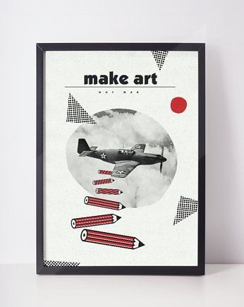 plakat // make art not war // a3, OSOBY