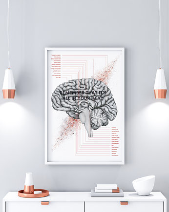 Marta Pawelec Medical Art, Plakat anatomiczny IN YOUR HEAD