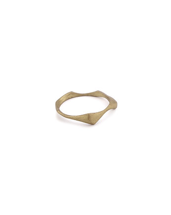 WAVES thin / brass RING, ONA