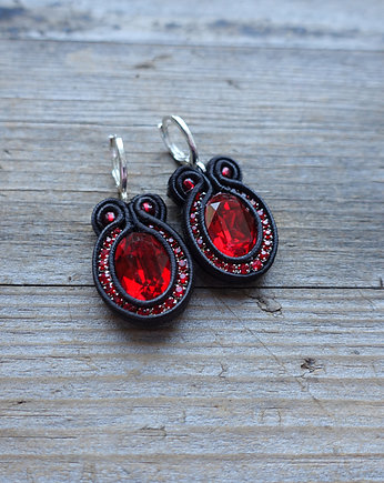 bizuteria autorska, Flamenco collection- JIMENA- kolczyki Soutache