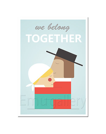 We belong together, plakat A3 w stylu retro
