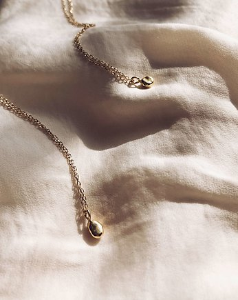 Unikke Design, Mini Liquid Necklace Gold-plated (long drop)