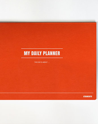 Orange is new black, My daily planner - pomarańcz - A4